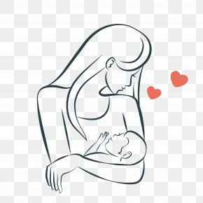 Mother Gave The Baby Breastfeeding - Mother Clip Art PNG