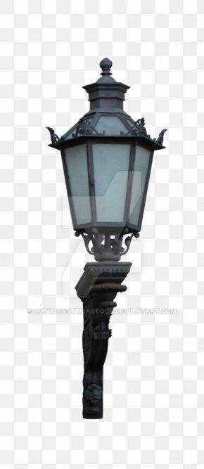 Gold Lamp - Street Light Light Fixture Lighting PNG