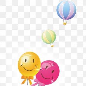 Smiley Face Balloon - Smiley Balloon World Smile Day PNG