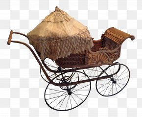 Brown Baby Carriage - Baby Transport Cart Wagon Victoria Carriage PNG