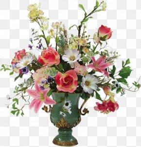 Vase With Flowers - Rose Floral Design Vase Flower Bouquet Cut Flowers PNG