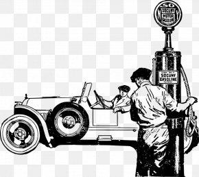 Car - Car Paper Filling Station Gasoline Fuel Dispenser PNG