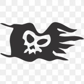 Gold Background - Jolly Roger Captain Flint Piracy Stencil Art PNG