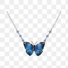 Necklace - Necklace Blue Morpho Ayahuasca Center Jewellery Earring Charms & Pendants PNG