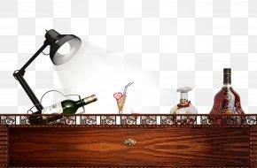 Desk Lamp Free Bottle Pull Material - Table Lampe De Bureau Bottle Desk PNG
