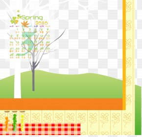 Cartoon Calendar Frame - Download Cartoon Graphic Design PNG