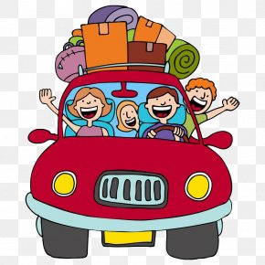 Happy Driving - Vacation Road Trip Cartoon Clip Art PNG