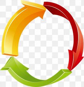 Color Curved Arrow - Arrow Euclidean Vector Clip Art PNG