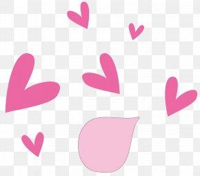 Pink Heart - Chewing Gum Pink Heart Euclidean Vector PNG