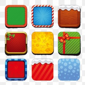 Wind APP Texture Christmas Icon Vector Material - Color Icon PNG