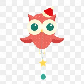 Red Owl - Owl Christmas Dress Up PNG