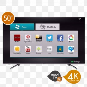 Tv Smart - 4K Resolution Smart TV LED-backlit LCD Ultra-high-definition Television PNG