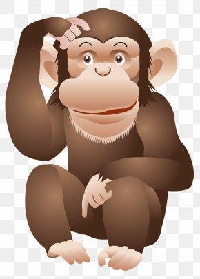 Monkey Image - Ape Chimpanzee Monkey Clip Art PNG