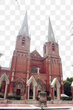 Shanghai Catholic Church Two - Saint Ignatius Cathedral, Shanghai Xujiahui Catholic Uff08East Gateuff09 U5f90u5bb6u532fu5730u9244u7ad9 Church U5929u4e3bu6559u5802 PNG