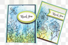 Greeting Card Background - Paper Rubber Stamp Watercolor Painting Die Cutting PNG