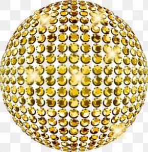 Ball - Disco Ball Light Gold PNG