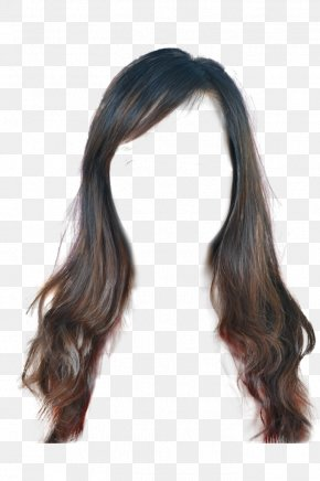 Hair - Long Hair Wig Hairstyle Step Cutting PNG