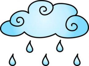 Cliparts Rain Showers - Rain Cloud Clip Art PNG