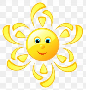 Cute Sun Clipart Picture - Emoticon Smiley Clip Art PNG