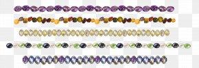 Necklace Jewelry - Bead Bracelet Purple Body Piercing Jewellery Font PNG