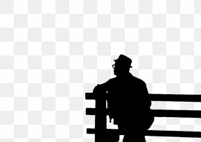 Silhouette Of Man Sitting - One Sentence Is Ten Thousand Sentences Fushu Silhouette Person Sitting PNG