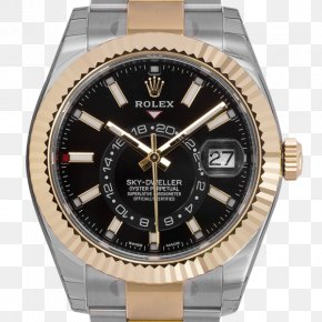 Yellow Sky - Rolex Datejust Automatic Watch Colored Gold PNG