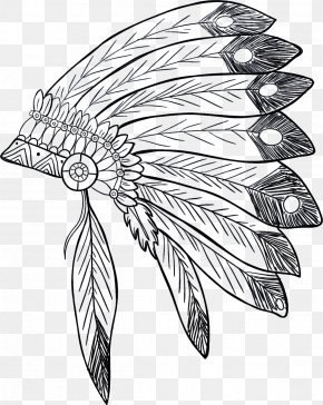 Vector Hat - War Bonnet Indigenous Peoples Of The Americas Native Americans In The United States Headgear Clip Art PNG