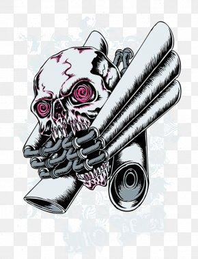 Vector Skull Print - Printed T-shirt Clothing Illustration PNG