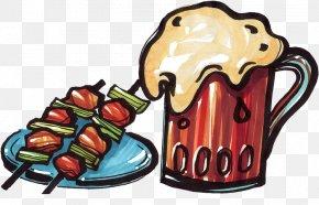 Beer Kebab Cartoons - Beer Kebab Chuan Barbecue Grill Chinese Cuisine PNG