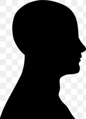Face Outline - Human Head Silhouette Face Clip Art PNG