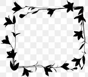 M Pattern Leaf Flower - Clip Art Black & White PNG