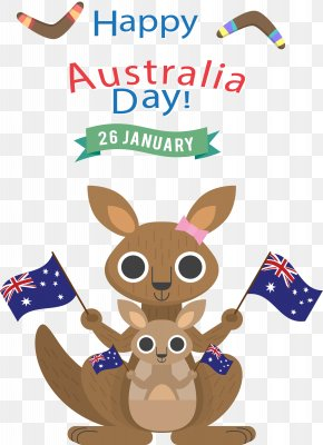 Vector Travel In Australia - Australia Day Kangaroo T-shirt Wall Decal PNG