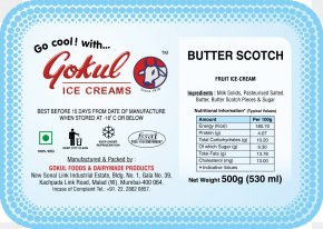 Kaju Kismis - Ice Cream Kulfi Milk Nutrition Facts Label Food PNG