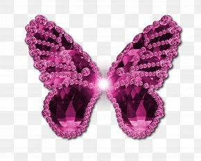 Pink Butterfly Transparent Image - Butterfly Watercolor Painting Clip Art PNG