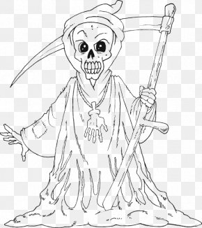 Halloween Coloring Book - Coloring Book Death Drawing Child PNG