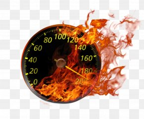 Flame Effect Speedometer - System Speedometer Icon PNG
