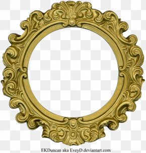 Golden Round Frame Clipart - Picture Frame Clip Art PNG