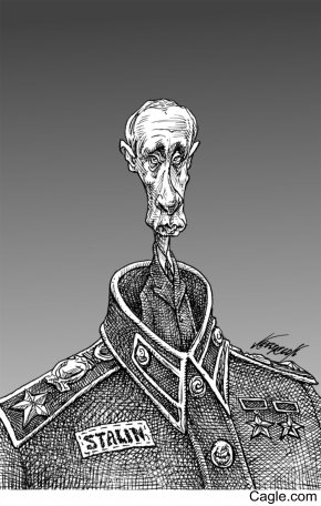Stalin - Russia Editorial Cartoon Caricature Drawing PNG