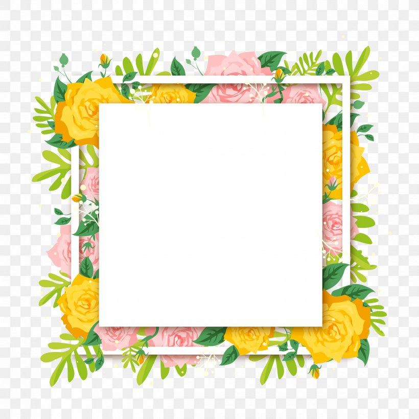Floral Design Flower Euclidean Vector, PNG, 2500x2500px, Flower, Beach Rose, Border, Clip Art, Cut Flowers Download Free