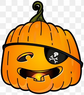 Halloween Pirate Pumpkin PNG Clip Art Image - Jack-o'-lantern Calabaza Pumpkin Clip Art PNG