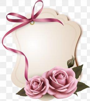 Pink Rose Label - Rose Pink Paper PNG
