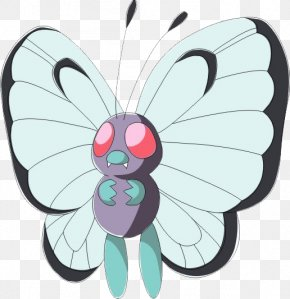 Butterfly - Pokxe9mon Red And Blue Ash Ketchum Pachirisu PNG