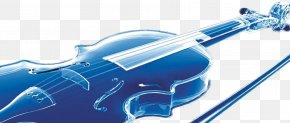 Crystal Aesthetic Exquisite Musical Instrument Violin - Violin Blue Musical Instrument PNG