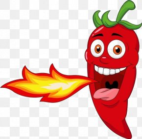 Cartoon Chili Fire Material - Chili Pepper Spice Mexican Cuisine Pungency Clip Art PNG