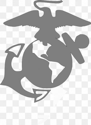 Eagle On A Globe - Clip Art United States Marine Corps Eagle, Globe, And Anchor Logo Vector Graphics PNG