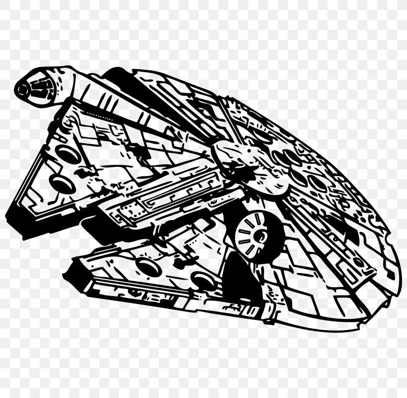 millennium falcon star wars stencil clip art, png, 800x800px, millennium  falcon, art, automotive design, black and  favpng.com