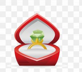 Cartoon Valentine's Day Diamond Ring - Valentine's Day Heart Royalty-free Illustration PNG