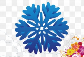 Blue Winter Snowflake - Template Advertising Download Android PNG