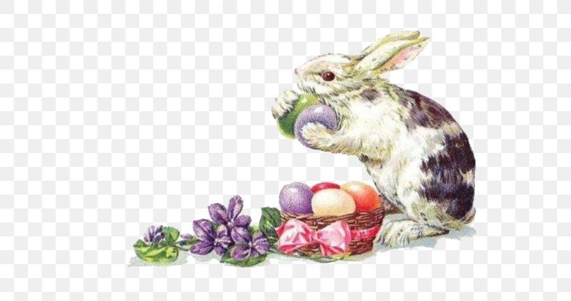 Easter Bunny Easter Postcard Rabbit Greeting Card, PNG, 650x433px, Easter Bunny, Christmas, Easter, Easter Egg, Easter Postcard Download Free