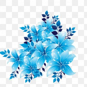 Blue Flowers - Flower Sky Blue Clip Art PNG